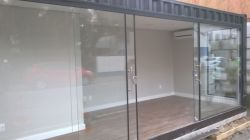 Container Stand de vendas e escritório frente de vidro