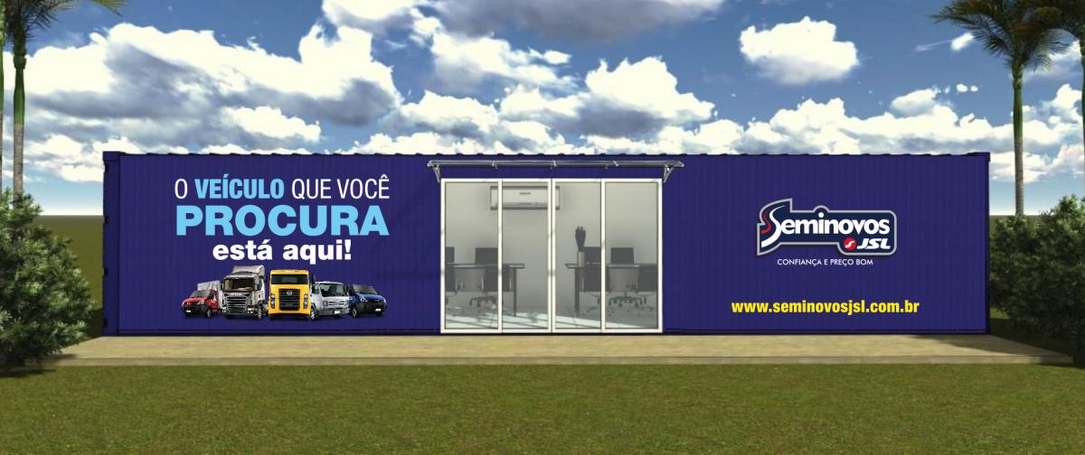 Container Escritório  Stand de Vendas para  JSL - Julio Simoes Logística