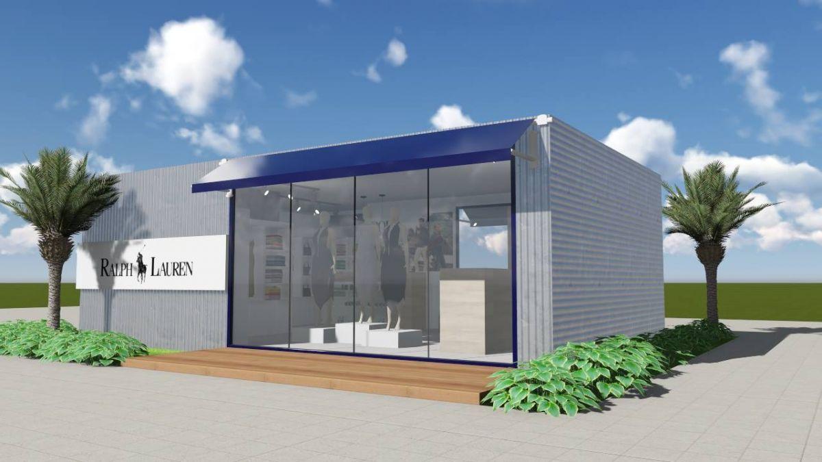 Loja Container 45m² - Ralph Lauren - Outlet  /  venda e locação de container