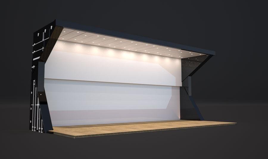 Container Automático Stand de Vendas / Lojas Container 40HC BIGHC  Transportável