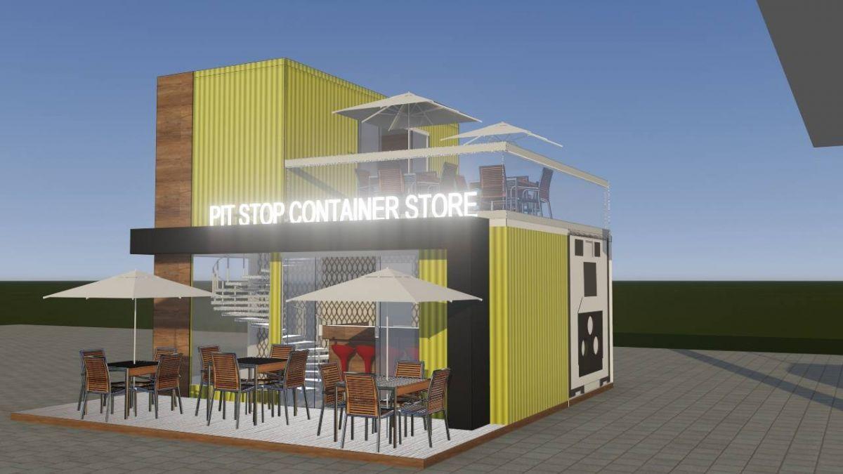 Pit Stop Container Store  para Venda de Bebidas  venda ou locação