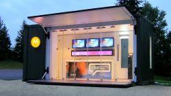 Container Stand de vendas automatizado