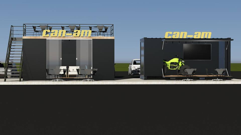 Container Stand de Vendas para Feiras e Eventos  ( Can- Am)