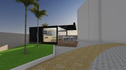 Container Restaurante / Lanchonete (Pizza Bar) 2 unidades de 20 pés  Reefer Carrier