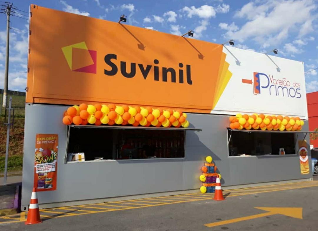 Lojas Container - Loja de Tintas PDV  / Stand de Vendas - Inauguração Loja Container Varejão dos Primos